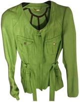 Gianni Versace Green Cotton Jacket for Women