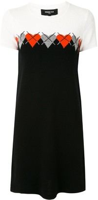 Paule Ka Heart Intarsia Knitted Dress