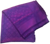 Louis Vuitton ChAle Monogram Purple Silk Scarves