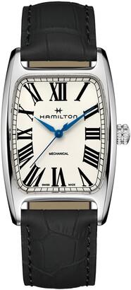 Hamilton American Boulton Leather Strap Watch, 34.5mm x 38mm