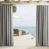 west elm Outdoor Solid Curtains - Light Gray