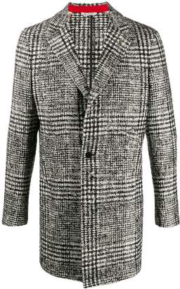 Manuel Ritz single breasted checked coat