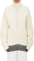 Off-White Women's Wool-Blend Turtleneck Sweater-WHITE