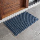 """Crate & Barrel Thirsty Dots TM Blue 34""""x22"""" Doormat"""