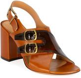 Dries Van Noten Double Buckle Block-Heel Sandals