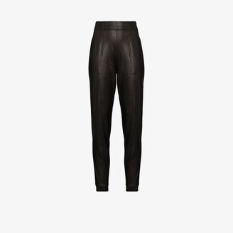 Spanx Ike faux leather track pants