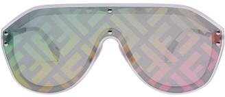 Fendi Prints On Fabulous monogram aviator sunglasses