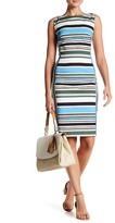 Lands' End Canvas Striped Sheath Dress