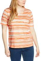 Via Appia Women's Kurzarm T-shirt Mit Rundhals Bedruckt Striped T-Shirt