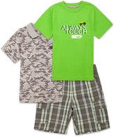 Lee 3-pc. Poplin Cargo Short Set - Toddler Boys 2t-5t
