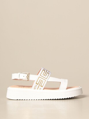 Elisabetta Franchi Leather Sandal With Logo