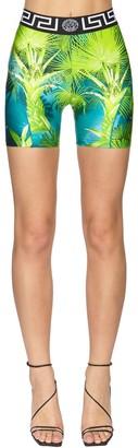 Versace Jungle Print Jersey Biker Shorts