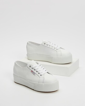 Superga Women's White Low-Tops - 2790 Full Grain Leather - Size 36 at The Iconic