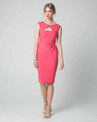 Le Château Bengaline Cutout Shift Dress