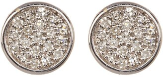 Carriere Sterling Silver Pave Diamond Disc Stud Earrings - 0.11 ctw