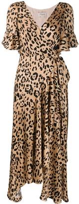 Temperley London Piera leopard-print silk dress