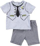 Petit Lem Jazzy Baby 2 Piece Set (Baby) - Gray-6 Months