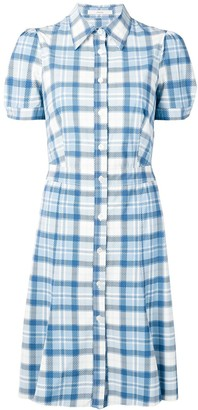 Prada Pre Owned 2000's Checked Flared Dress