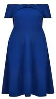 Dorothy Perkins Womens Dp Curve Cobalt Bardot Twist Dress, Cobalt