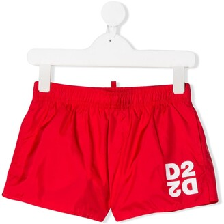 DSQUARED2 D2 logo swim shorts