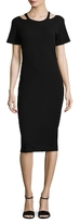 Nicole Miller Riley Ribbed Cut-Out Dress