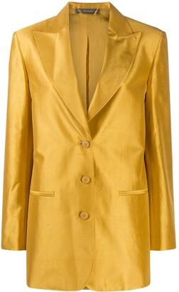 Alberta Ferretti Boxy Fit Silk Blazer