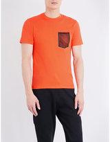 Sandro Mesh-pocket Cotton-jersey T-shirt