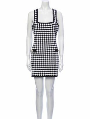Balmain Houndstooth Print Mini Dress w/ Tags Black
