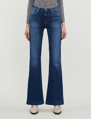 Paige Genevieve high-rise faded flared jeans
