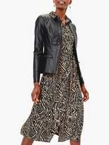 Oasis Faux Leather Jacket, Black
