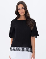 Privilege Reversible Flutter Sleeve Top