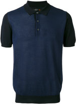 Corneliani contrast panel polo shirt