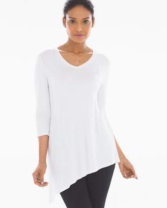 Asymmetrical Hem Tunic Tee Bright White