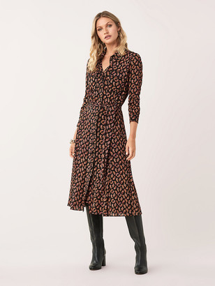 Diane von Furstenberg Andi Mesh Shirt Dress
