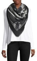 Givenchy Silk Cashmere & Wool Scarf