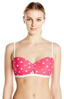 Coco Rave Women's Cosmic Match Peek-A-Boo Molded Bikini Top