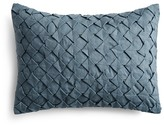 "Vera Wang Corrugated Texture Geometric Decorative Pillow, 12"" x 16"""