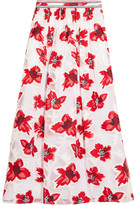 Tory Burch Barrington Embellished Fil Coupé Chiffon Maxi Skirt - US6