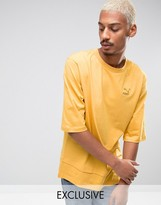 Puma Oversized Double Hemmed T-Shirt In Yellow Exclusive to ASOS