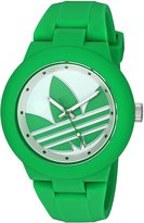adidas Women's 'Aberdeen' Quartz Plastic and Silicone Automatic Watch, Color:Green (Model: ADH3117)