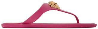 Versace Pink Medusa Thong Sandals