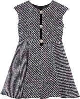 David Charles Fleck Tweed Fit & Flare Dress