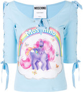 Moschino My Little Pony lace sleeved top