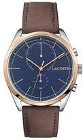 Lacoste Men's San Diego Brown Leather Strap
