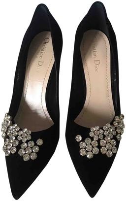 Christian Dior D-Stiletto Black Velvet Heels