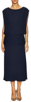 Tracy Reese Draped Boat Neck Midi Dress