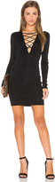 360 Sweater Lace Up Sweater Dress