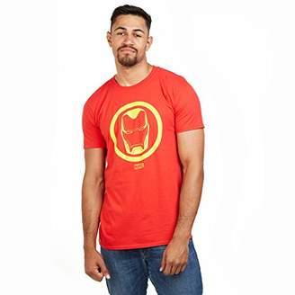 Marvel Men's Iron Man Emblem T Shirt SML,Small (Size:Small)