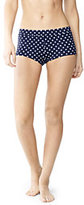 Lands' End Women's Beach Living Boy Short Bottoms-Vivid Cobalt Lotus Floral