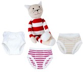 Under the Nile Infant 4-Piece Training Pants & Tilly Stuffed Animal Set